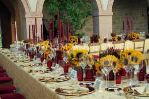 Receptions settings wedding in tuscany