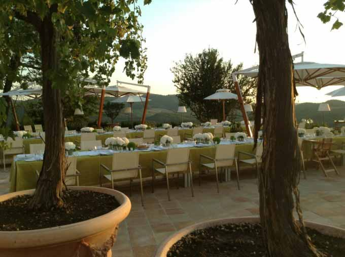 A tuscan chic resort opens to celebrity wedding
